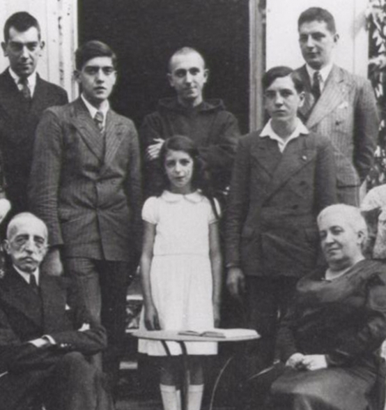 Abbé Pierre with his family